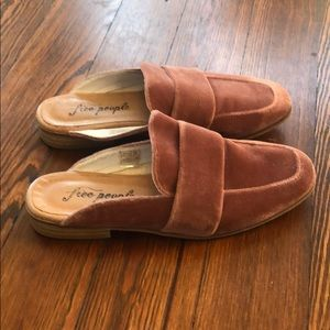 Free People At Ease Rose Velvet Loafer Mule